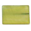 Shell Rectangular 15x20mm Lime Green